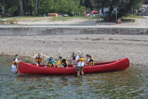 4 posadka rdečega kanuja